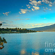 Morning Reflections On Lake Cascade Print by Robert Bales
