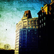 Morningside Heights Blue Print by Natasha Marco