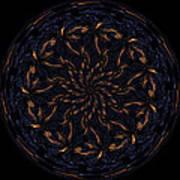 Morphed Art Globes 14 Print by Rhonda Barrett