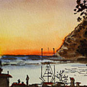 Morro Bay - California Sketchbook Project Print by Irina Sztukowski