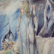 Moses And The Burning Bush Print by William Blake