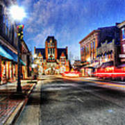Most Beautiful Small Town In America At Christmas Print by Darren Fisher
