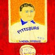 Most Expensive Baseball Card Honus Wagner T206 2 Print by Richard W Linford