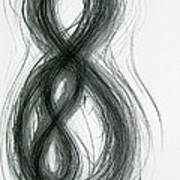 Mother And Child Figure-eight Study Print by Michael Morgan