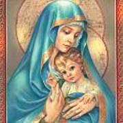 Mother Of God Print by Zorina Baldescu