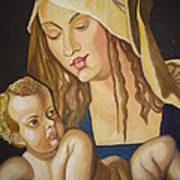Mother With Her Child Print by Prasenjit Dhar
