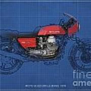 Moto Guzzi 850 Le Mans 1976 Print by Pablo Franchi