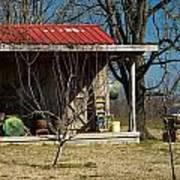 Mountain Cabin In Tennessee 1 Print by Douglas Barnett
