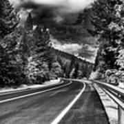 Mountain Highway Print by Mick Burkey