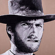 Mr. Eastwood Print by Ellen Patton