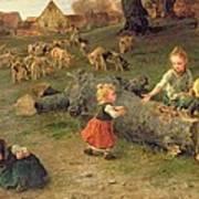 Mud Pies Print by Ludwig Knaus