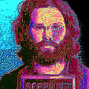 Mugshot Jim Morrison 20130329 Print by Wingsdomain Art and Photography