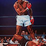 Muhammad Ali Versus Sonny Liston Print by Paul Meijering