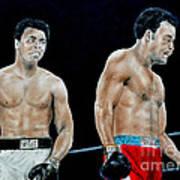 Muhammad Ali Vs George Foreman Print by Jim Fitzpatrick