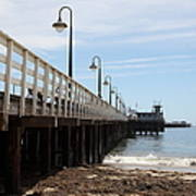 Municipal Wharf At The Santa Cruz Beach Boardwalk California 5d23768 Print by Wingsdomain Art and Photography