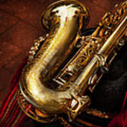 Music - Brass - Saxophone  Print by Mike Savad