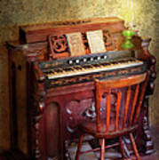 Music - Organist - Playing The Songs Of The Gospel  Print by Mike Savad