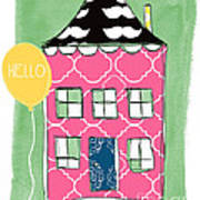 Mustache House Print by Linda Woods