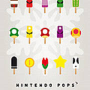 My Mario Ice Pop - Univers Print by Chungkong Art