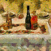 My New Year Dinner  Print by Yury Malkov