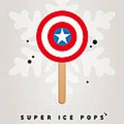 My Superhero Ice Pop - Captain America Print by Chungkong Art