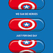 My Superhero Pills - Captain America Print by Chungkong Art