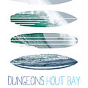 My Surfspots Poster-4-dungeons-cape-town-south-africa Print by Chungkong Art