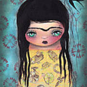 My Yellow Dress Print by  Abril Andrade Griffith