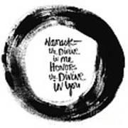 Namaste Enso Print by Linda Woods