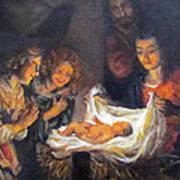Nativity Scene Study Print by Donna Tucker
