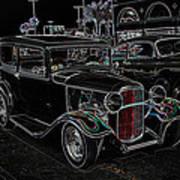 Neon Car Show Print by Steve McKinzie
