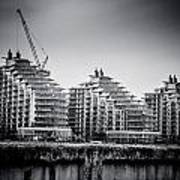 New Apartments In Battersea Print by Lenny Carter