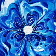 New Blue Glory Flower Art - Buy Prints Print by Sharon Cummings