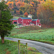 New England Farm Square Print by Bill Wakeley