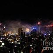 New Year Fireworks IIi Print by Ray Warren