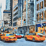 New York 2 Print by Yury Malkov