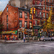 New York - City - Corner Of One Way And This Way Print by Mike Savad
