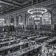 New York Public Library Main Reading Room X Print by Clarence Holmes