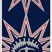 New York Rangers Print by Tony Rubino