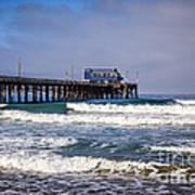 Newport Beach Pier In Orange County California Print by Paul Velgos