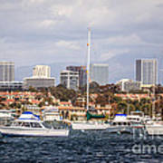 Newport Beach Skyline  Print by Paul Velgos
