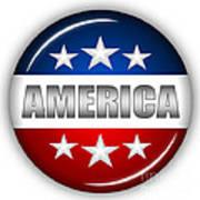 Nice America Shield Print by Pamela Johnson