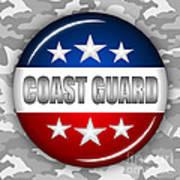 Nice Coast Guard Shield 2 Print by Pamela Johnson