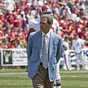 Nick Saban Head Football Coach Of Alabama Print by Mountain Dreams