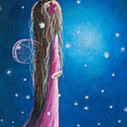 Night Of 50 Wishes Fairy Print By Shawna Erback Print by Shawna Erback
