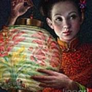 Nightingale Girl Print by Jane Bucci
