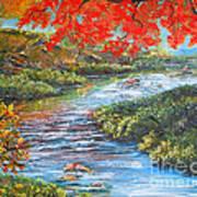Nixon's Brilliant View Of Fall Alongside The Rapidan River Print by Lee Nixon
