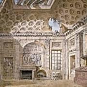 Monastery Of St Trinita Del Monte Print by Charles Louis Clerisseau