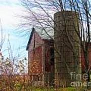 Non Working Barn Property Print by Tina M Wenger