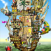 Norah's Ark Print by Colin Thompson